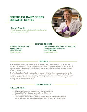 Northeast Dairy Foods Research Center - InnovateWithDairy.com
