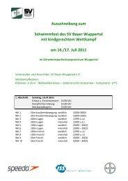 Ausschreibung SF SV Bayer mit kgW 2011 - SV Bayer Wuppertal