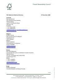 FSC National Initiatives Directory 27 Nov 08.pdf - Forest ...