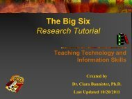 The Big Six Tutorial