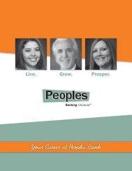 Peoples Recruitment Brochure - Peoples Bank