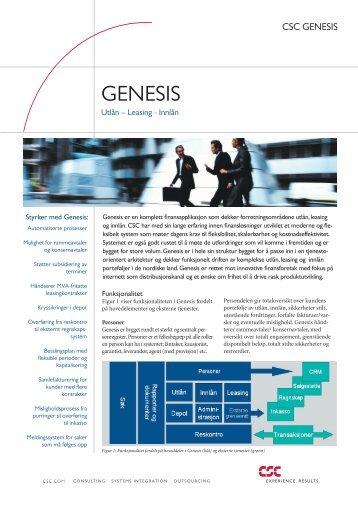 GENESIS - CSC