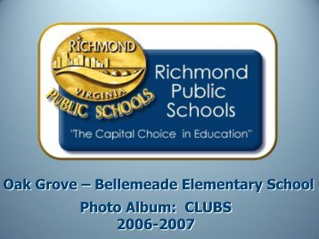 Club Photo Album - Richmond Public Schools