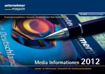 Media Informationen 2012 Media Informationen 2012