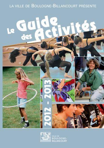 Guide des activités 2012-2013 - Boulogne - Billancourt