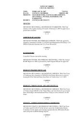 town of virden council meeting time: february 20, 2007 7:30 pm ...