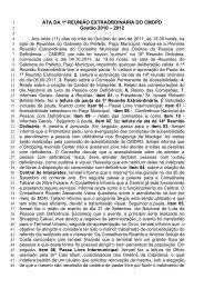 1ª Ata Reunião EXtraOrdinária CMPDP 11.10.2011a do - Maringá