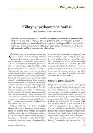 Päivystyspsykiatria Kiihtynyt psykoottinen potilas - Terveyskirjasto