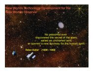 New Worlds Technology Development for the New Worlds ... - NASA