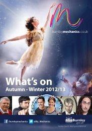 Download latest brochure - Burnley Mechanics