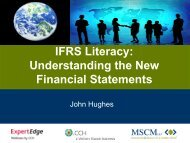 IFRS Literacy: Understanding the New Financial ... - CCH Canadian
