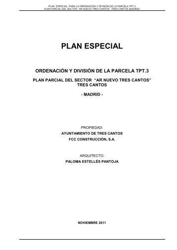 11 11 04-MEMORIA PE TPT 3 rev.14 - Ayuntamiento de Tres Cantos