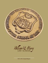 2011–2012 Annual Report - William & Mary Law