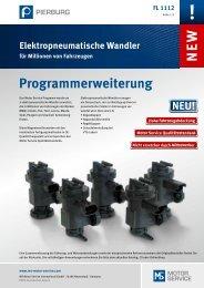 FL 1112 - NEW - Elektropneumatische Wandler ... - Pierburg