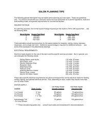 SALON PLANNING TIPS - Cache Beauty Supply, Inc.