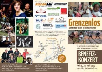 Gemeinsam Helfen Folder - Stadtsaal Kufstein