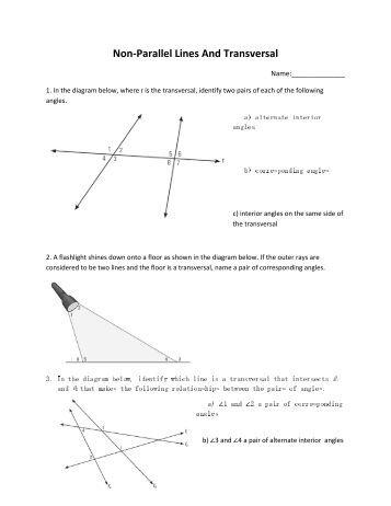 proving lines parallel worksheet c. Black Bedroom Furniture Sets. Home Design Ideas