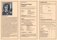 Broschüre und Anmeldeformular Sergio Azzolini - Meisterkurse