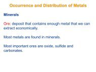 Occurrence and Distribution of Metals - Wits Structural Chemistry