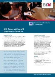 AXA Konzern AG schafft zentralen IT-Überblick - IDS Scheer AG