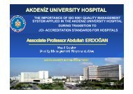 The Importance of ISO 9001 Applied at Akdeniz University ... - EOQ