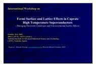 Fermi Surface and Lattice Effects in Cuprate High Temperature ...