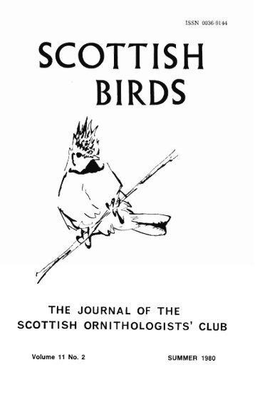 SCOTTISH BIRDS - The Scottish Ornithologists' Club