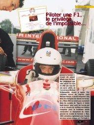 Piloter une F1 - Magazine Sports et Loisirs