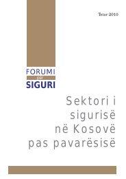 Sektori i sigurisë në Kosovë - QKSS