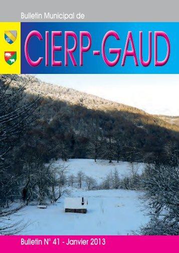 Bulletin Municipal de Bulletin N° 41 - Janvier 2013 - Cierp-Gaud