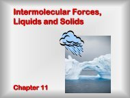 Intermolecular forces - Wits Structural Chemistry