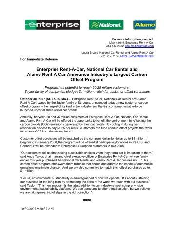 Enterprise Rent-A-Car, National Car Rental and Alamo Rent A Car ...