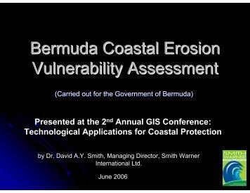 Bermuda Coastal Erosion Vulnerability Assessment