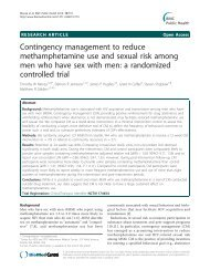 Contingency management to reduce ... - BioMed Central