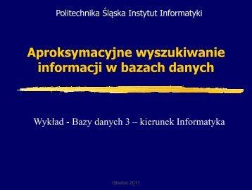 Rozmyte bazy danych - Zakład Teorii Informatyki - Politechnika Śląska