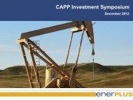 CAPP Investment Symposium - Enerplus