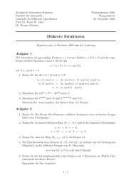 Übungsblatt 6 - Lehrstuhl für Effiziente Algorithmen