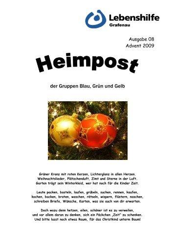 Heimpost Ausgabe 8-2009 - Lebenshilfe Grafenau