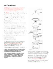 Oil Centrifuges - Bell Flow Systems