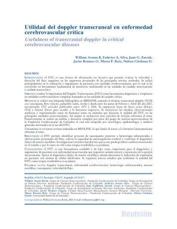Utilidad del doppler transcraneal en enfermedad cerebrovascular ...