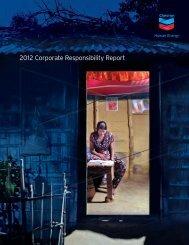Chevron Corporate Responsibility Report 2012