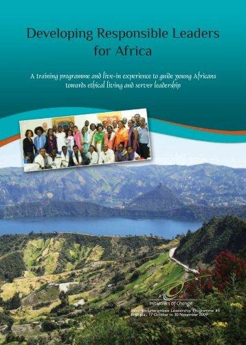 Harambee (5) 2009- Ethiopia - Initiatives of Change