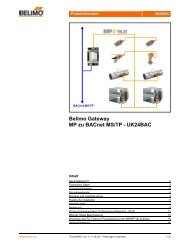 Belimo Gateway MP zu BACnet MS/TP - UK24BAC