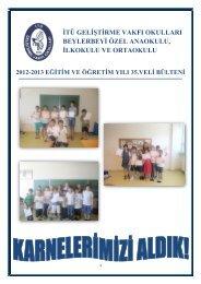 veli bülteni-35 - İTÜ Geliştirme Vakfı Okulları