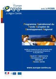 Le Programme opérationnel FEDER Centre (V 25 juillet 2012)
