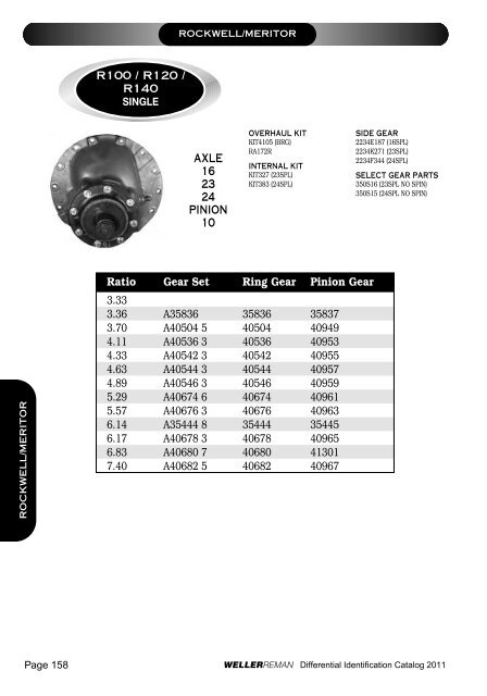 ROCKWELL MERITOR R100 R