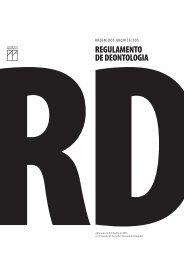 regulamento de deontologia - Ordem dos Arquitectos Secção ...