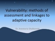 Vulnerability: methods of assessment and linkages to ... - Uwi.edu