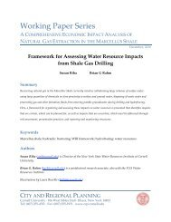 Framework for Assessing Water Resource Impacts from Shale Gas ...