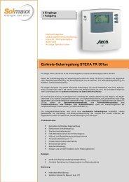 Einkreis-Solarregelung STECA TR 301sc - Solmaxx